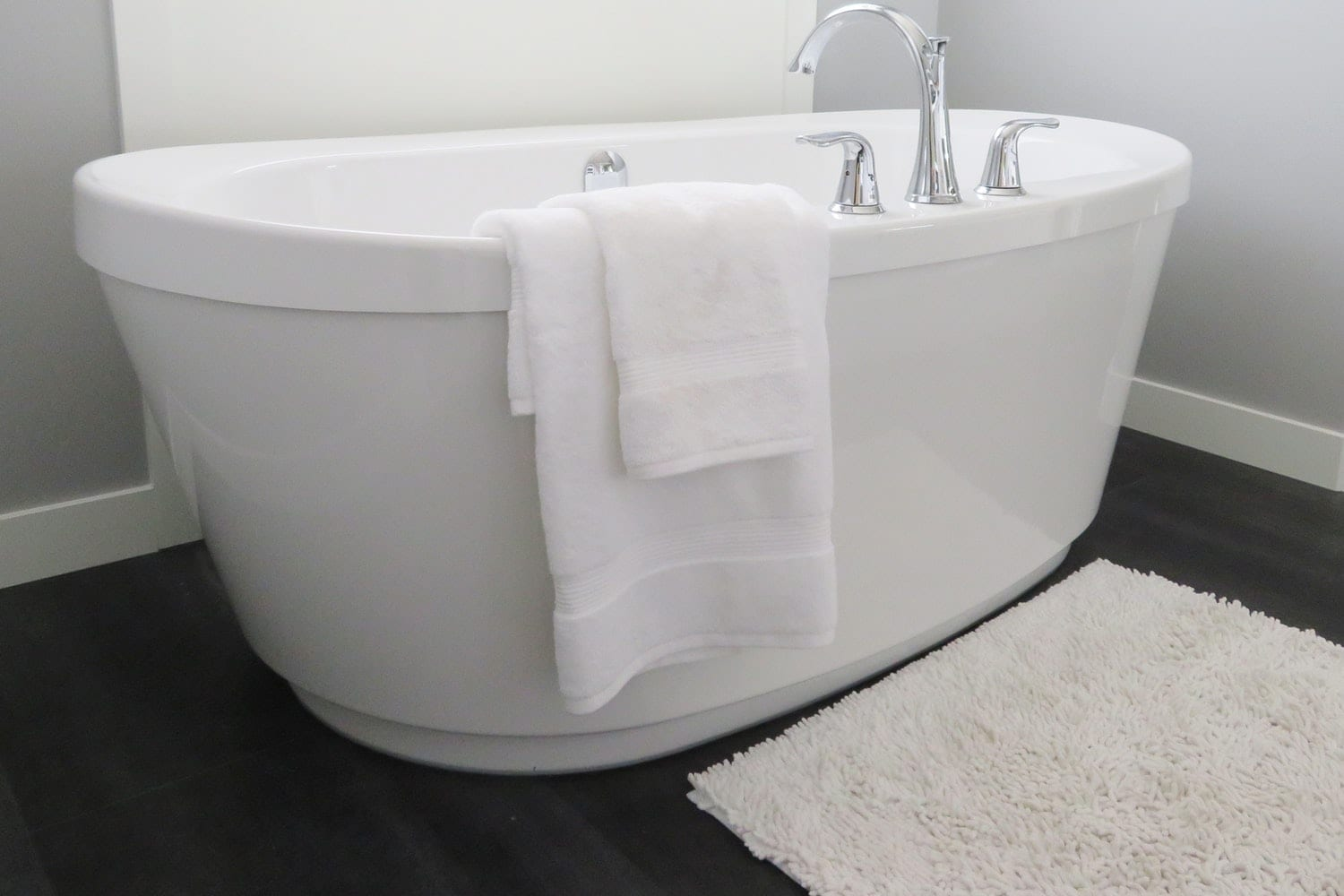 Bathtub with towel