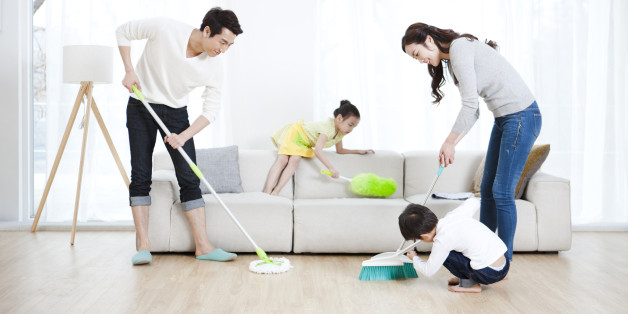 Make cleaning the home with family fun